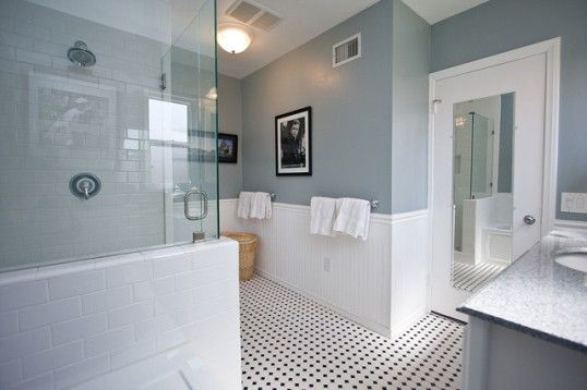 captivating what color paint grey tiles bathroom | 39 Awesome white and gray bathroom tile images | White ...