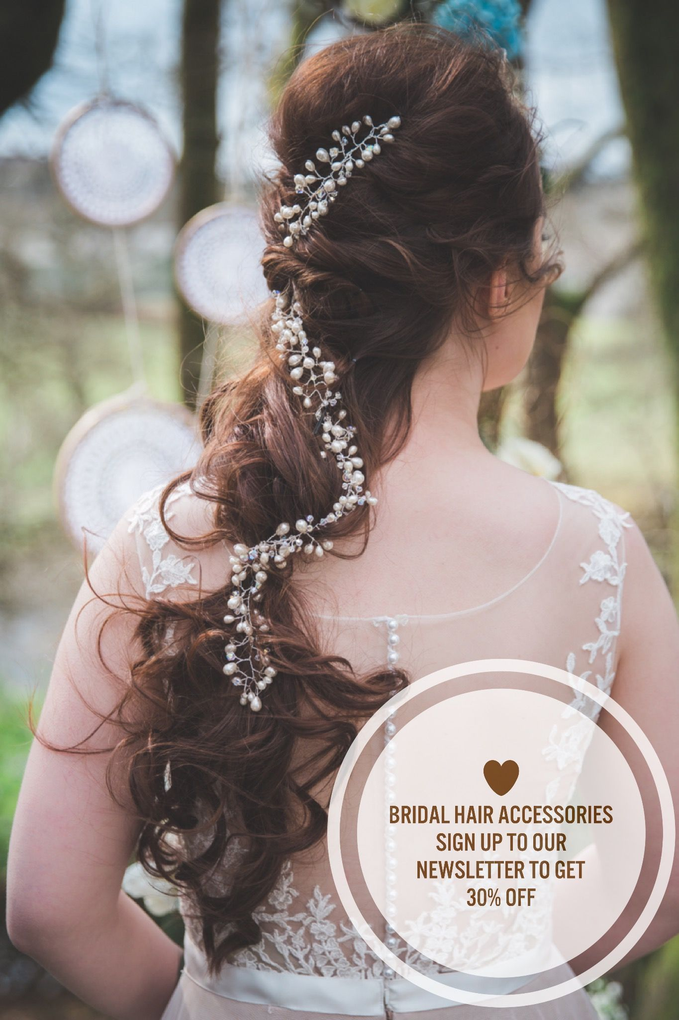 30% off bridal hair accessories in june bridal hair vine, bridal