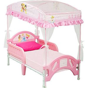 Disney Princess Toddler Bed With Canopy 80 On Sale For 70