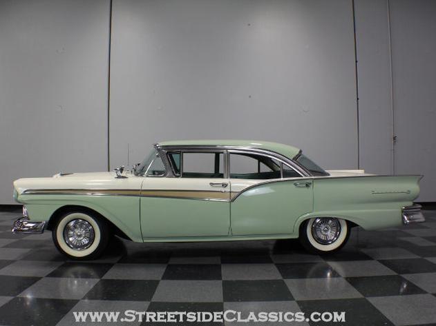 autotrader classics 1957 ford fairlane 500 sedan green. Black Bedroom Furniture Sets. Home Design Ideas