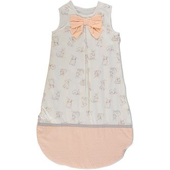 ee192cdb9001 Piper   Posie Cream Rabbit Patterned Sleeping Bag