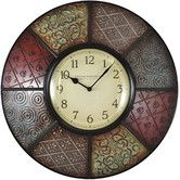 "Found it at Wayfair - 20.5"" Patchwork Wall Clock"