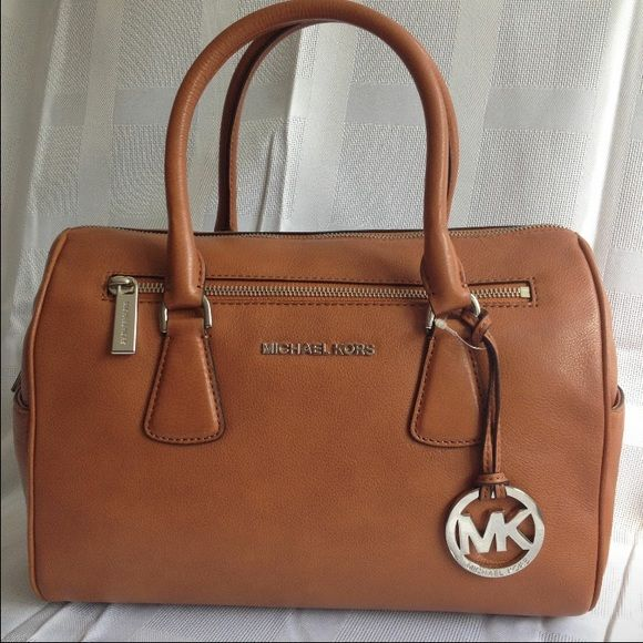 Mk Sophie Smooth leather in the color luggage. Mint condition. Comes with cross body and dust bag.  want to trade for Kate spade MICHAEL Michael Kors Bags Satchels