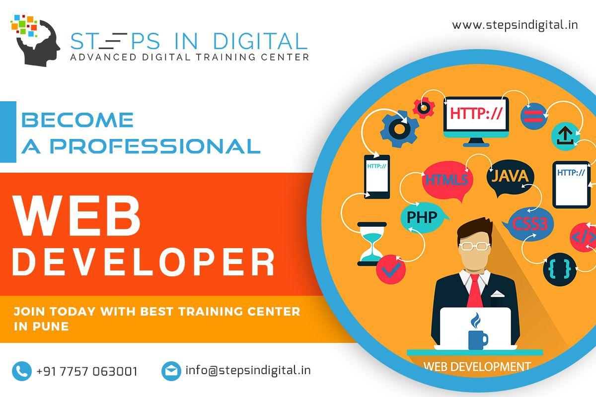 Steps In Digital Training Institute Is Provide Complete Web Development Course Classes In Pune Courses Like Web Development Course Web Development Development