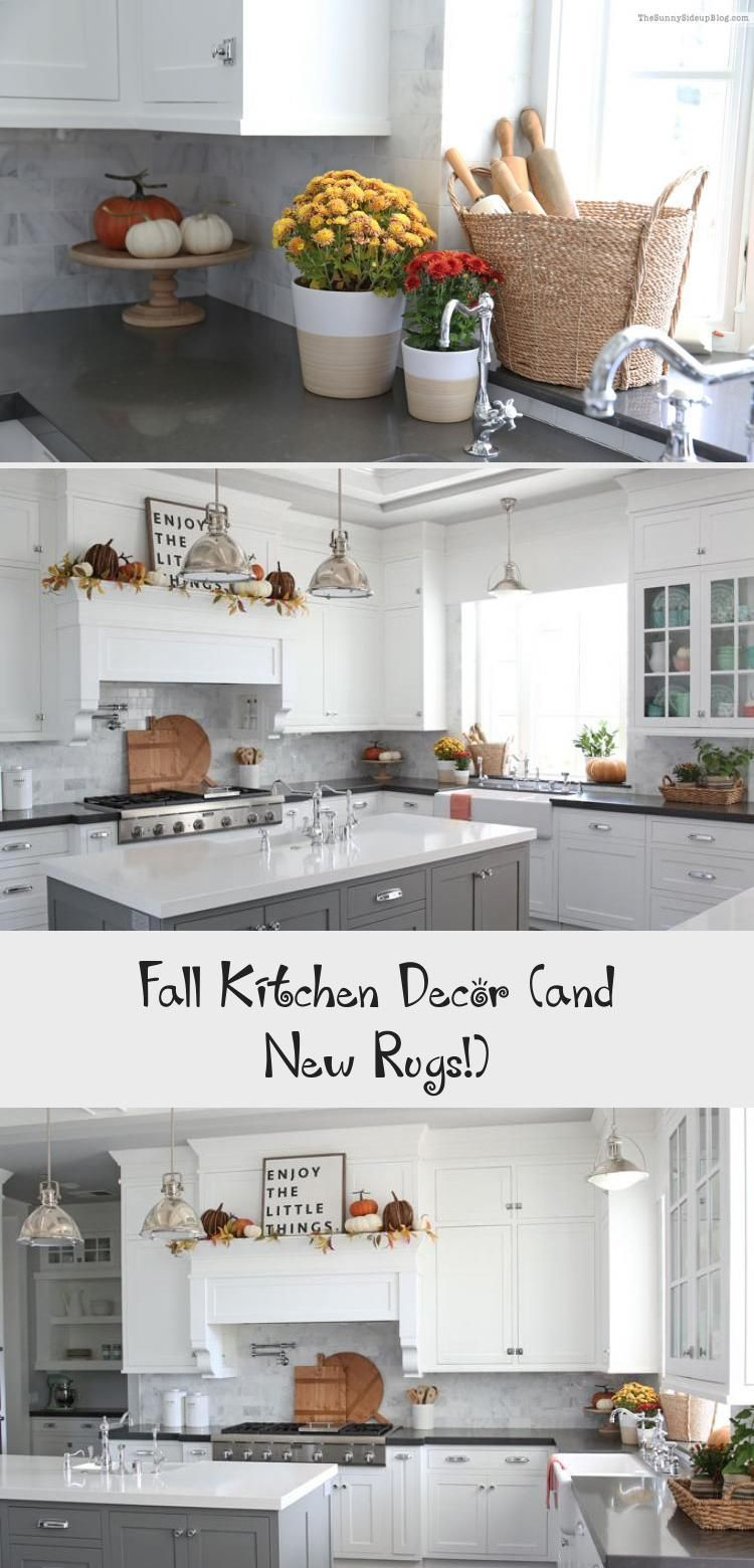 Fall Kitchen Decor And New Rugs In