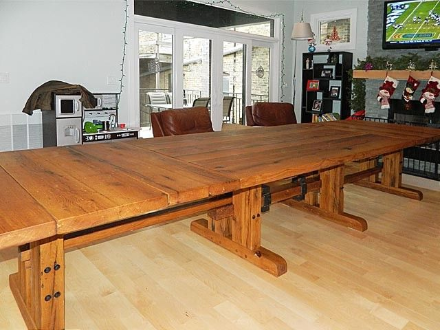Awesome Reclaimed White Oak Farm Table. Starts At 48in X 7ft And Expands To 48in X