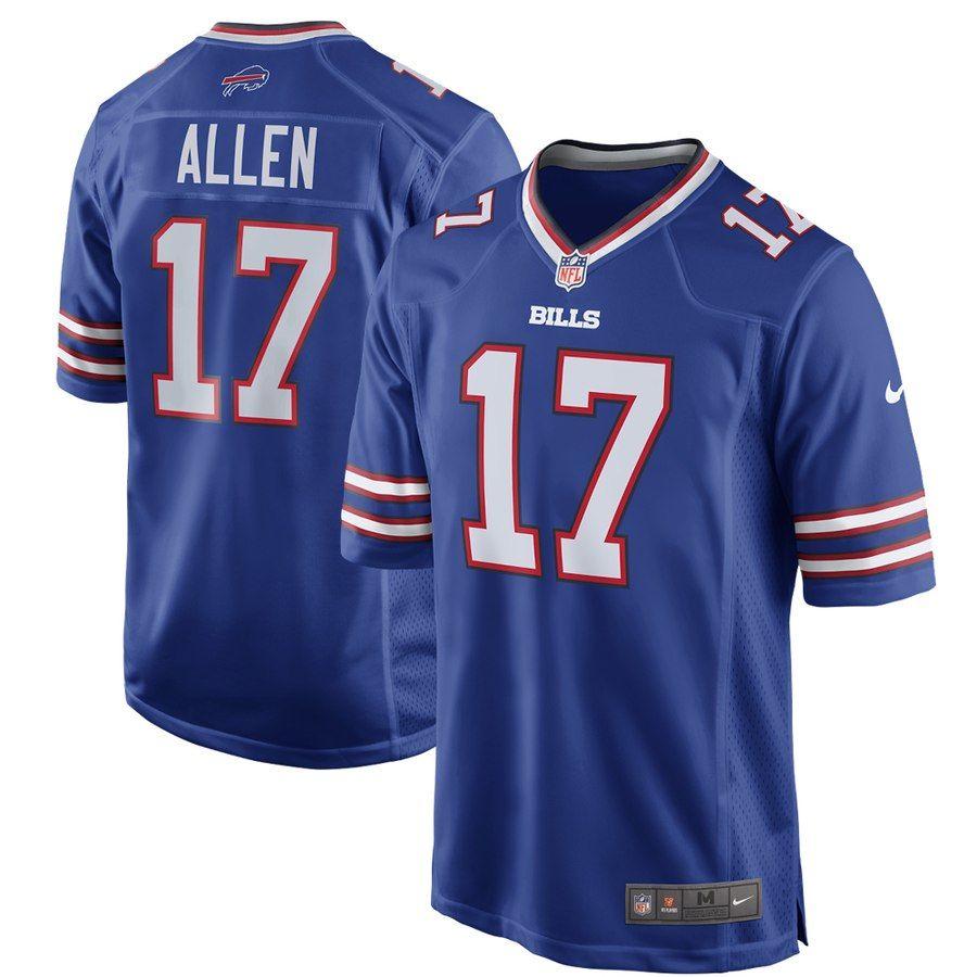 timeless design 3f8af db330 Men's Buffalo Bills Josh Allen Nike Royal Game Jersey ...