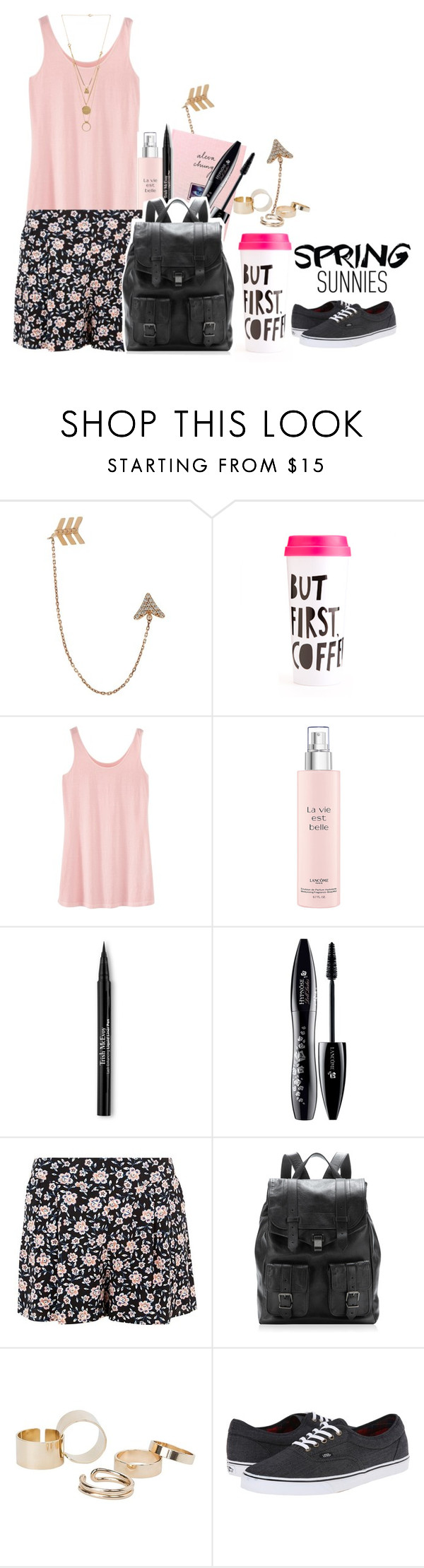 """""""SPRING IS HERE!!!!!!!!!!!!:D"""" by baileybear783 ❤ liked on Polyvore featuring Bee Goddess, ban.do, Lancôme, Trish McEvoy, Proenza Schouler, MANGO, Vans and Maison Margiela"""