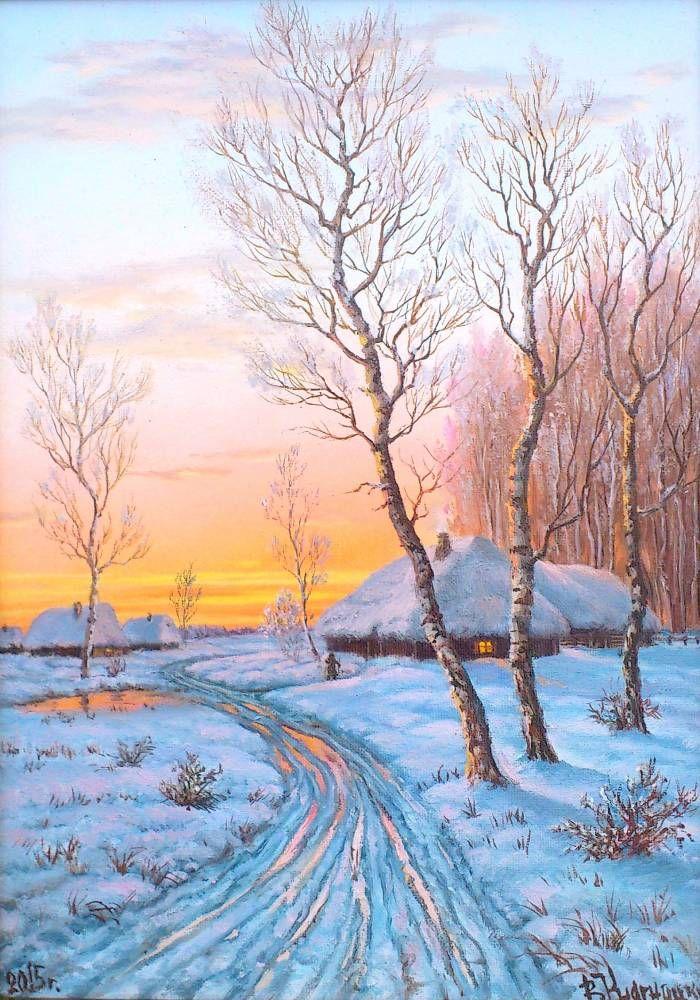десантники картинки зимние пейзажи рисовать лёгкой руки