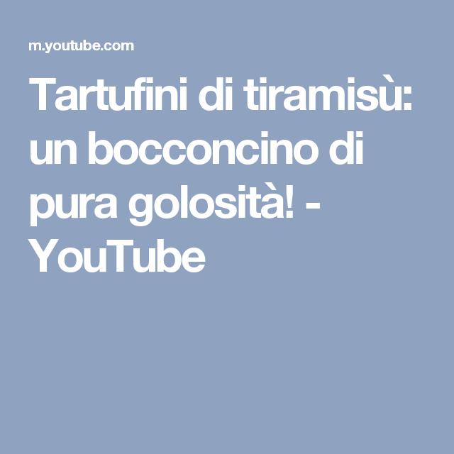Tartufini di tiramisù: un bocconcino di pura golosità! - YouTube