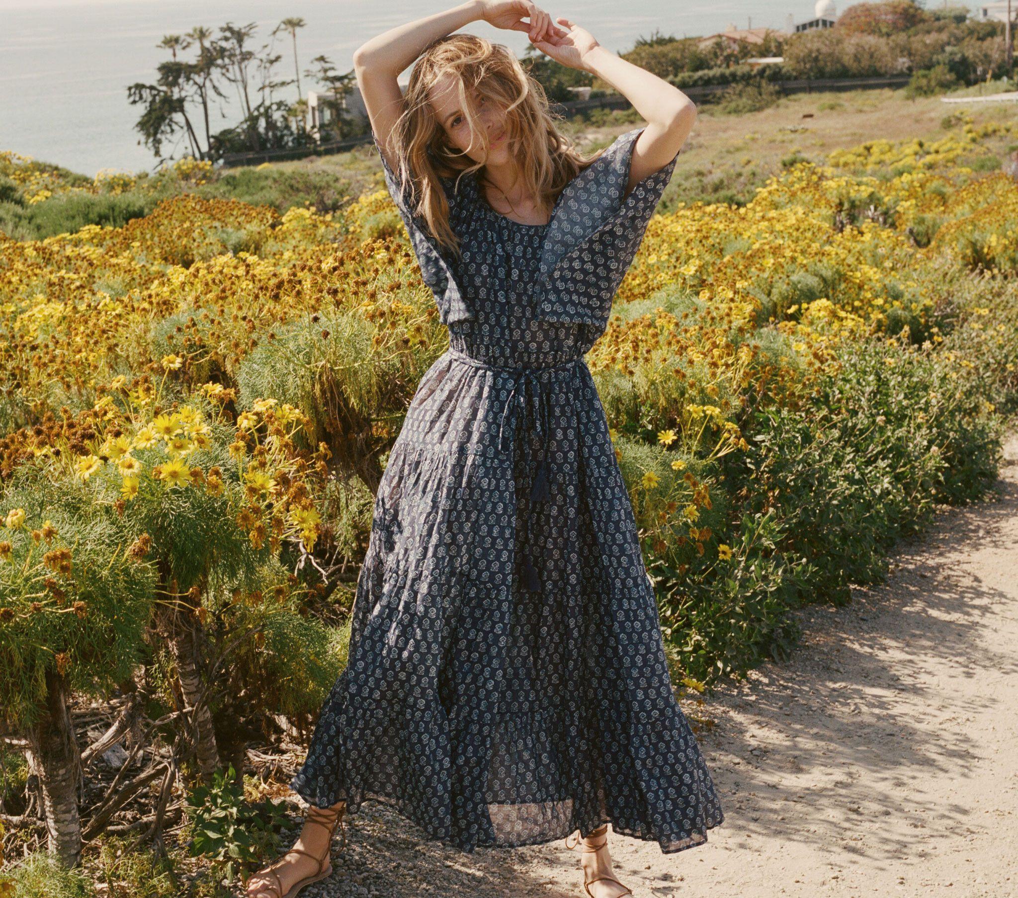 SORELL DRESS -- INDIGO