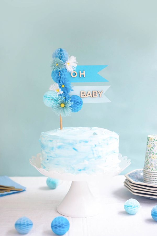 Baby Cake Topper Diy Oh Happy Day Celebrations Party Cakes