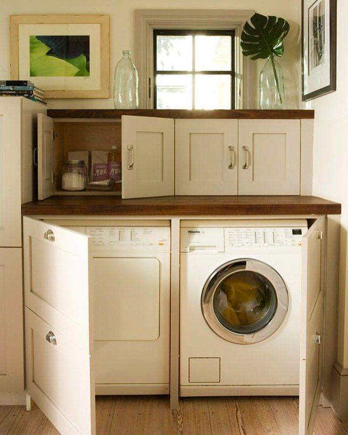 Best Laundry Room Location: If You Have A Side By Size Front Loading Washer & Dryer