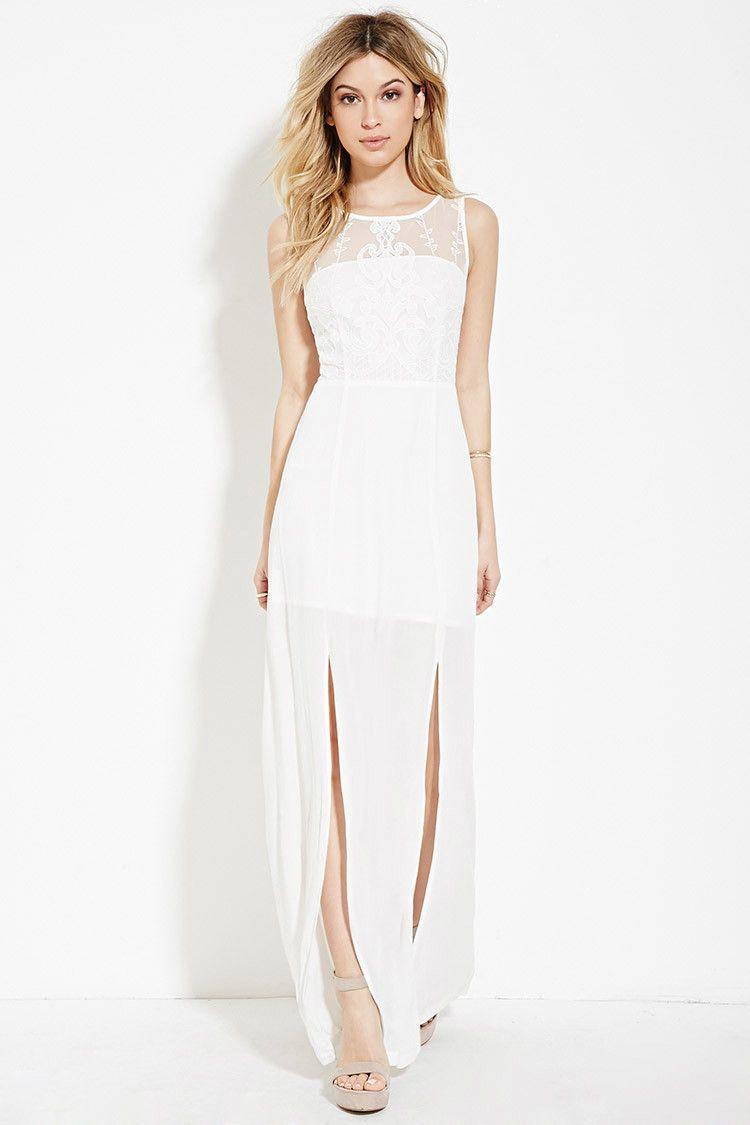Floral print wedding dresses  LacePaneled Maxi Dress  Fashion  Pinterest  Weddings
