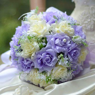 Wedding Flowers - $18.99 - Eye-catching Round Satin Bridal Bouquets (124032101) http://jjshouse.com/Eye-Catching-Round-Satin-Bridal-Bouquets-124032101-g32101?pos=ultimately_buy_1
