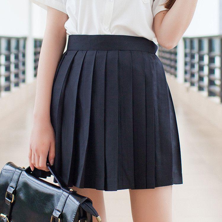 S-XL 8 Colors Pleated Skirt SP164960 - SpreePicky  - 3