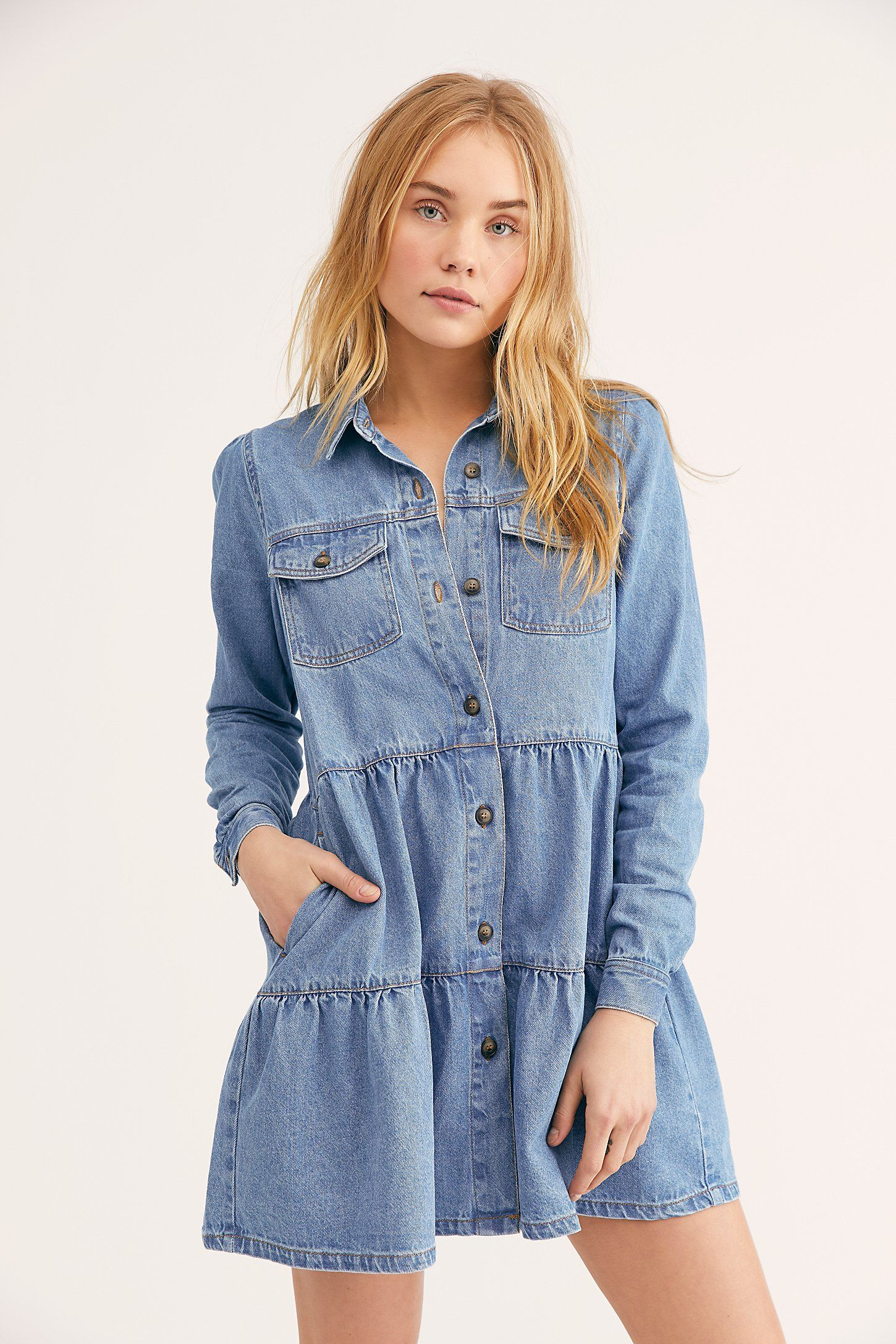 8c47498583f Nicole Denim Shirt Dress in 2019