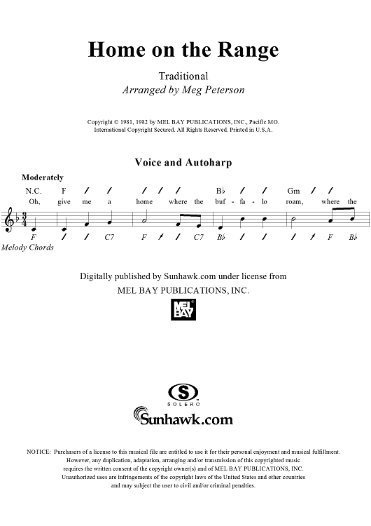 Home On The Range Autoharp Pinterest Online Sheet Music Sheet