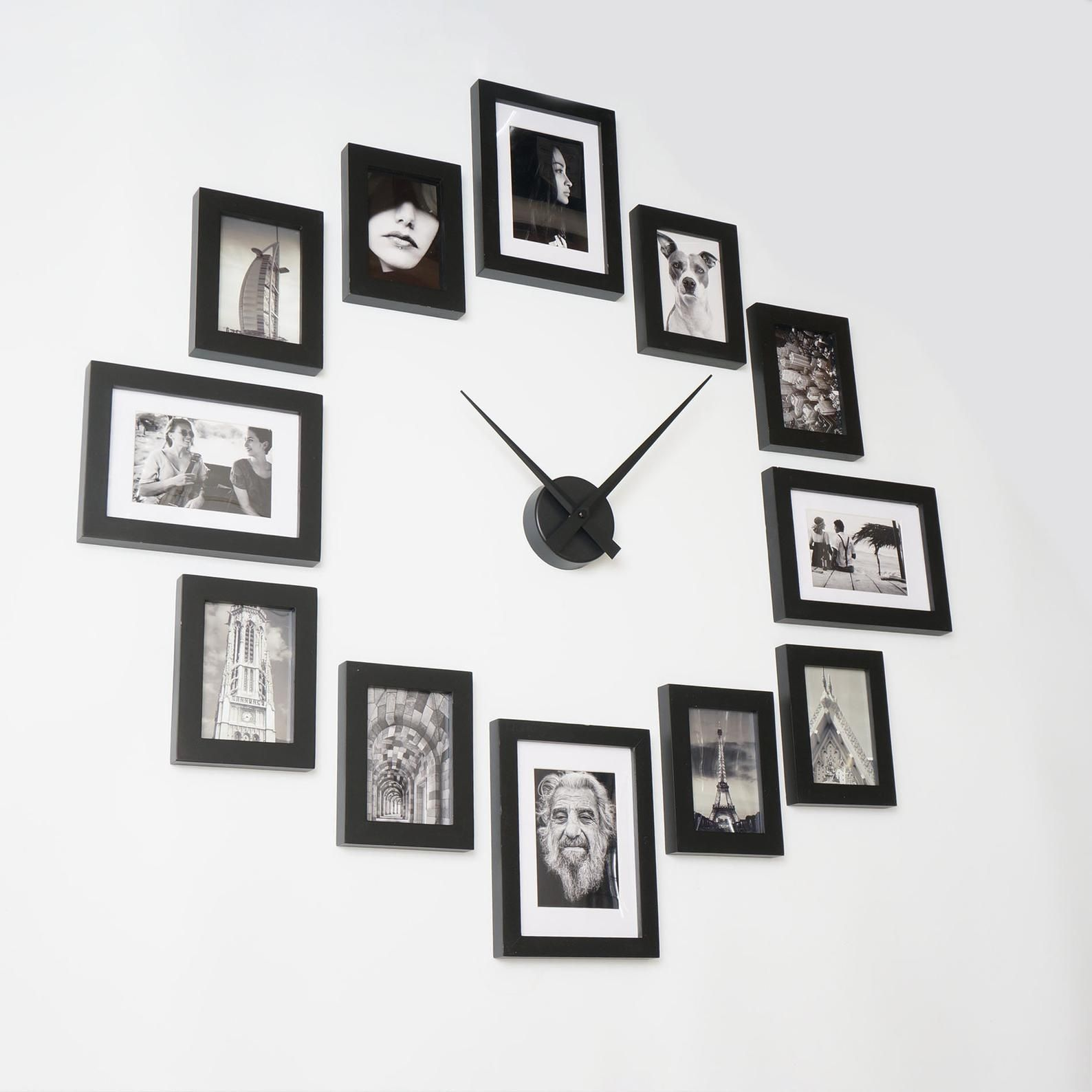 Photo Picture Frame Wall Clock Modern 12 Black Etsy In 2020 Frames On Wall Picture Frame Clock Picture Frame Wall