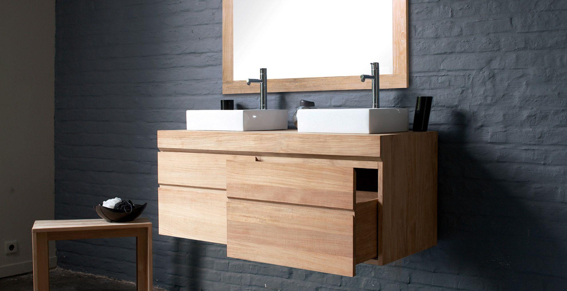salle de bain et meubles en bois tendance nature architecture en 2019 salle de bain teck