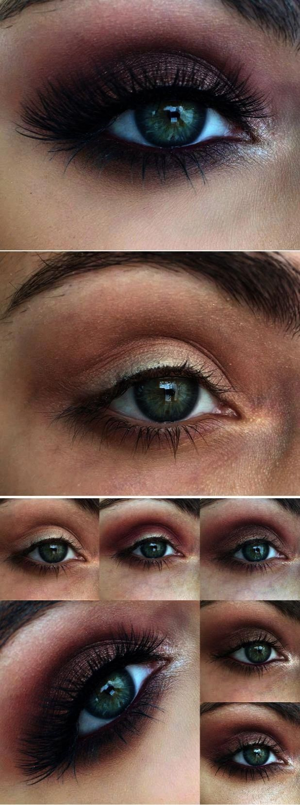 Natural Eye Makeup Tutorial For Hazel Eyes Smokey eye