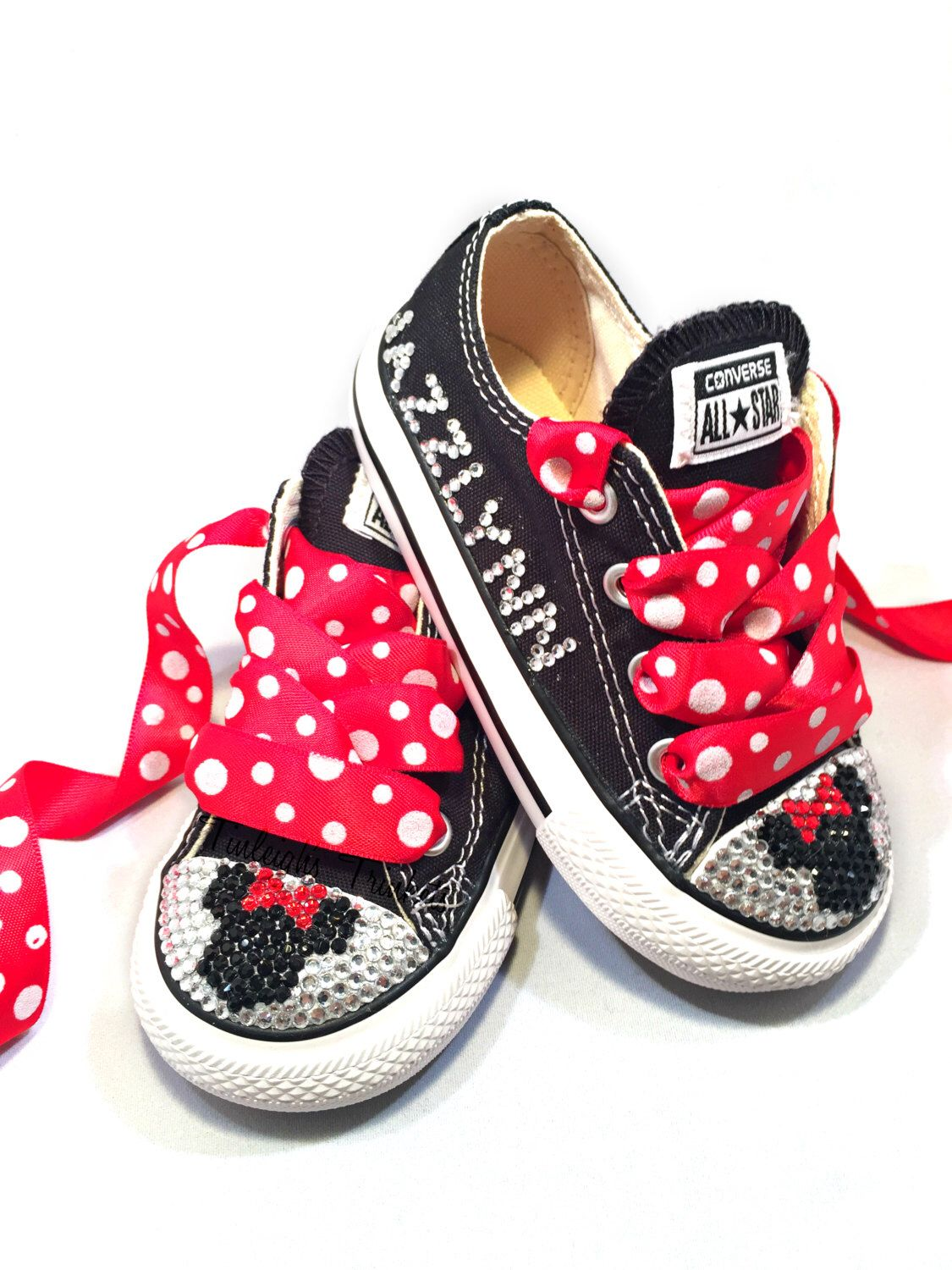 edde7cb6ccf4 Minnie Mouse Toddler Converse Bling Shoes