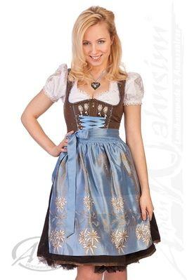 Spieth & Wensky Mini Dirndl costumes 2Pcs. - PROSECCO - brown / light blue /