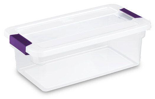 Caja De Plastico Sterilite Transparente Con Pestillos Con Tapa 6