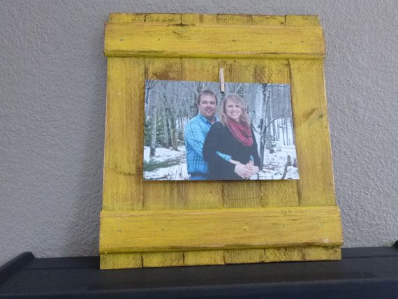 4x6 Distressed Picture Frame, Shabby Chic Wall Decor, Rustic Pallet ...