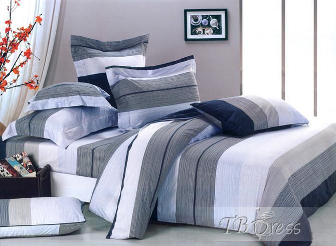 Blue And Grey Bedding Bedroom Ideas Pictures Blaues