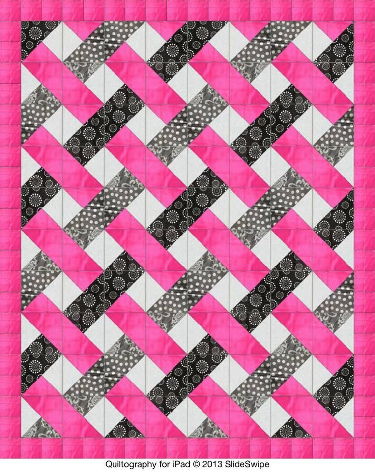 Easy Woven Pattern Triangles Quilting 15 Pinterest