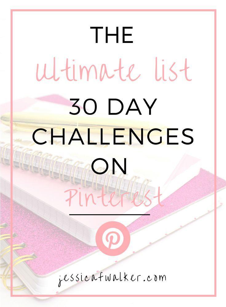 Liste ultime des défis de 30 jours sur Pinterest (essayez quelque chose de nouveau ce mois-ci) | Jessica F. Walker