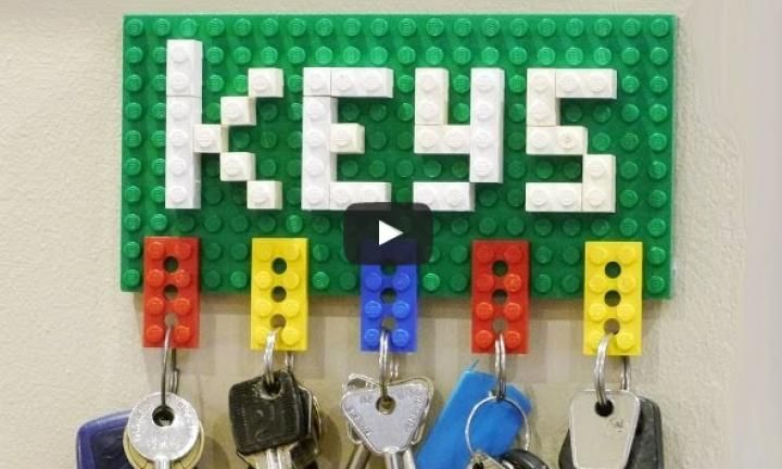 16 really useful things kids can make with LEGO | Lego key holders ...