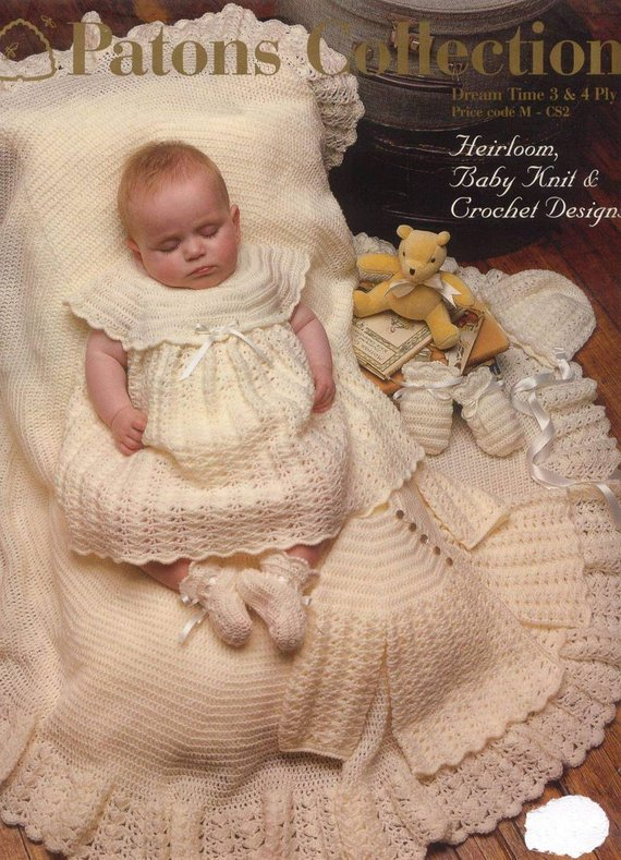 dc730c117697 Patons Heirloom Collection crochet and knit vintage baby designs ...