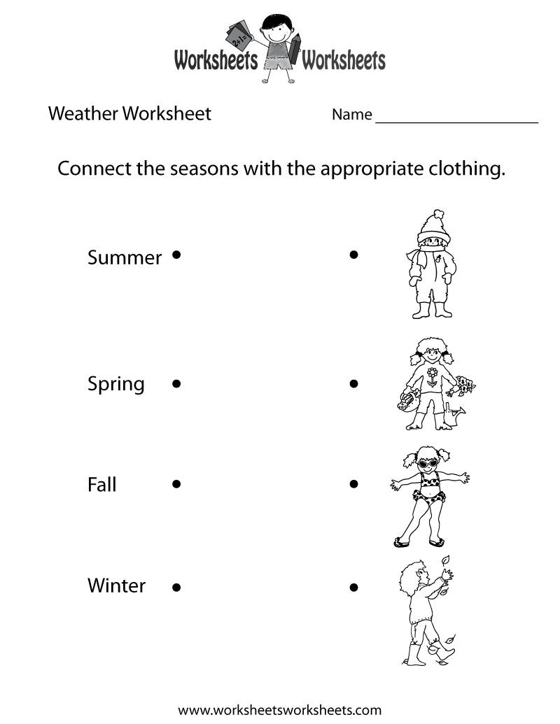 fun weather worksheet printable - Printable Fun Sheets
