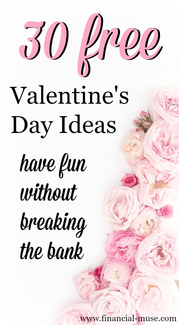30 Free Valentine\'s Day Ideas For The Frugal Nerd In You | Banks ...