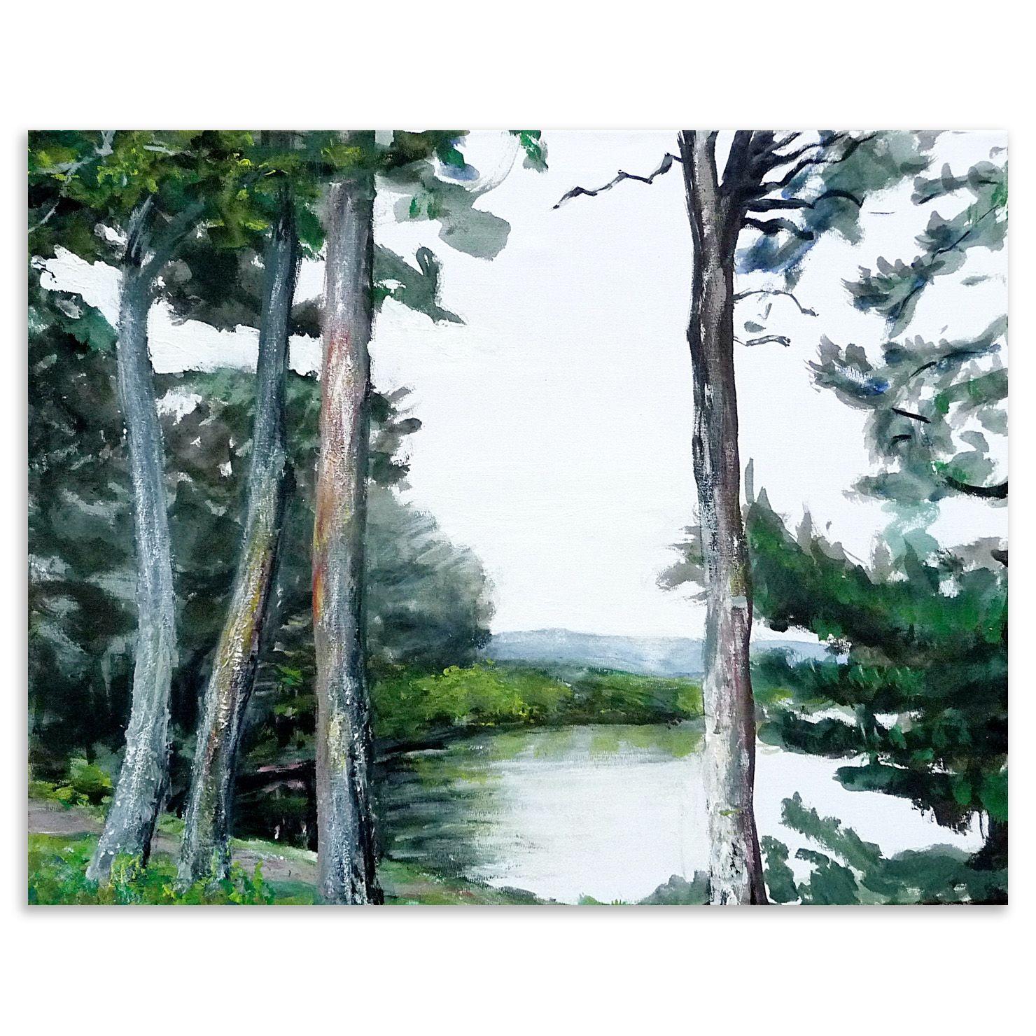 Rose Strang - Reservoir Pentlands, Acrylic on Canvas, 50x40cm