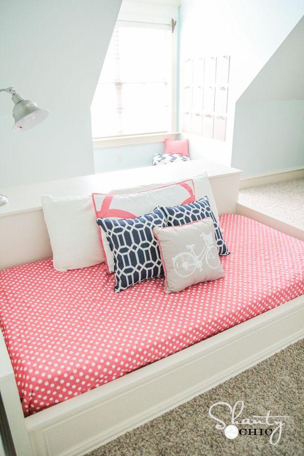 DIY Platform Dresser Bed   Amber\'s Room   Pinterest