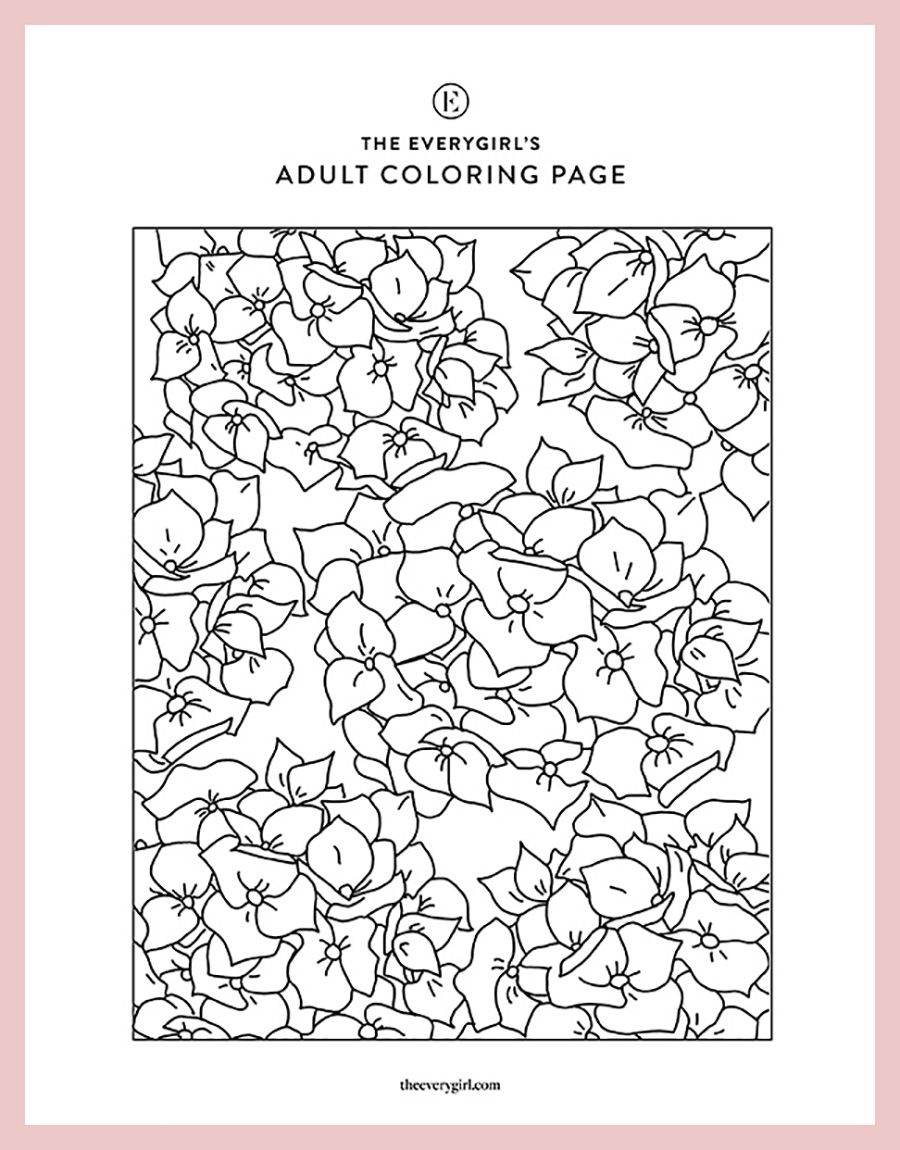 New The Everygirl S Free Printable Coloring Pages In 2020 Printable Coloring Pages Free Printable Coloring Pages Coloring Pages