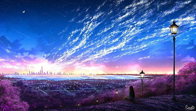 خلفيات انمي للكمبيوتر والجوال عالية الدقة مداد الجليد Anime Scenery Wallpaper Scenery Wallpaper Hd Anime Wallpapers