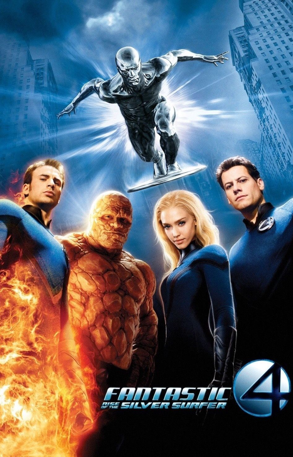 Fantastic Four Rise Of The Silver Surfer 2007 Cartazes De Cinema Filmes Quarteto Fantastico
