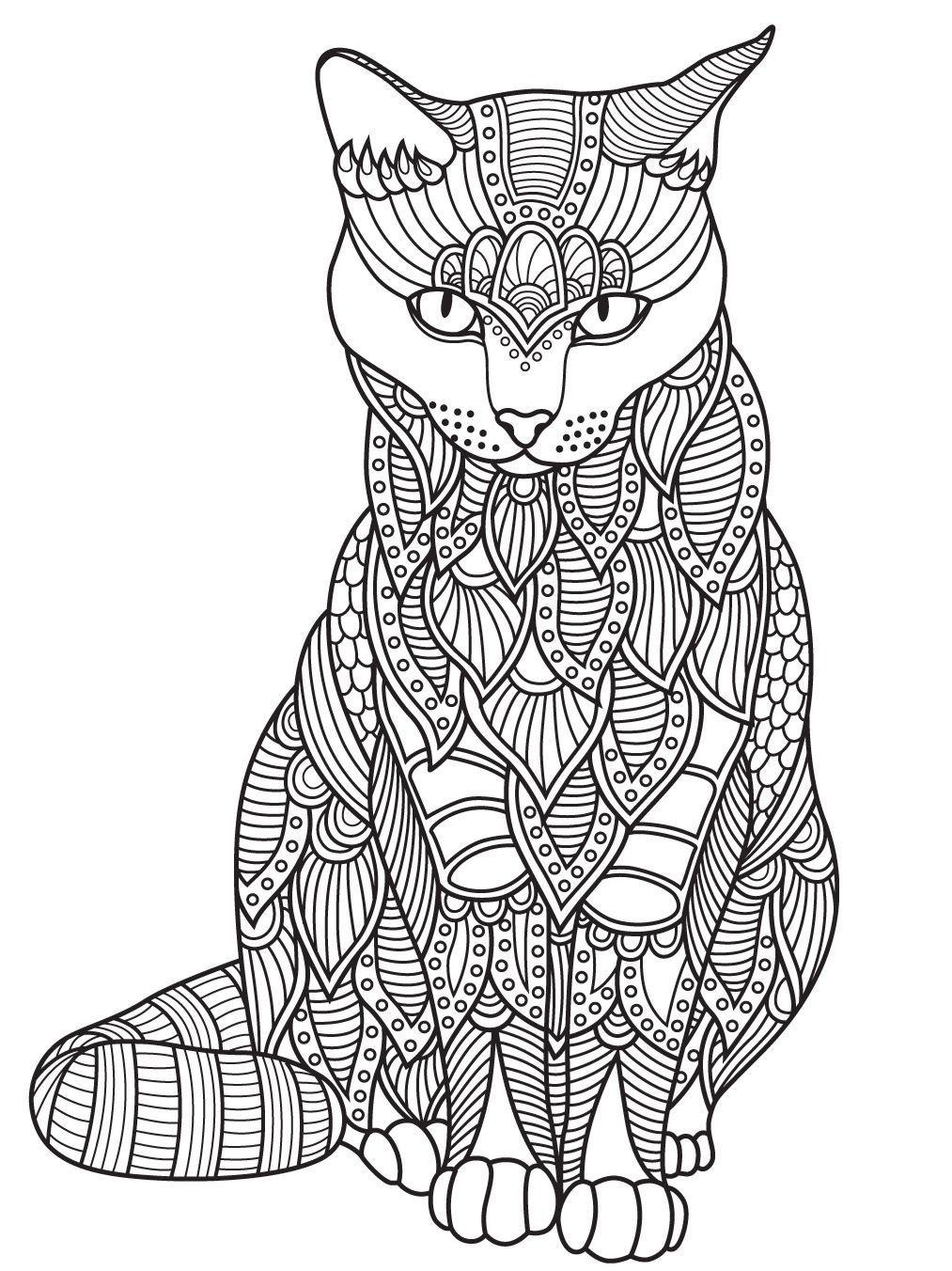Pin By Daniela Laureiro On Mandalas Para Colorear Cat Coloring Page Kitty Coloring Animal Coloring Pages