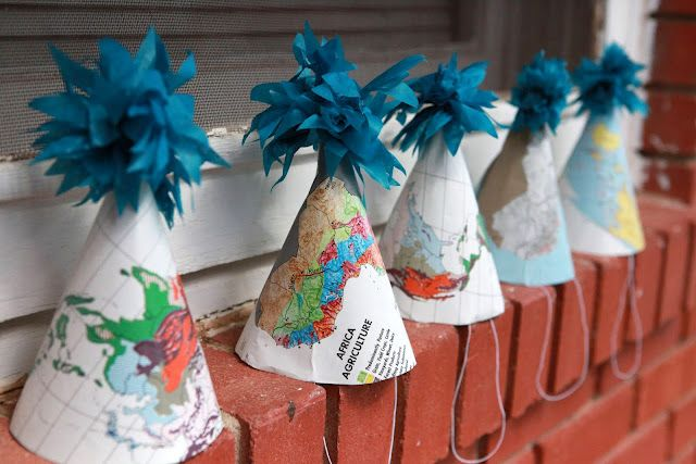 World Map Party Supplies.Map Party Hats For A World Traveler Party Love All Of The Map