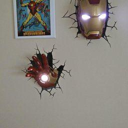 3d Light Fx Marvel Iron Man Mask 3d Deco Led Wall Light Discontinued By Manufacturer 3d Deco Light 3d Light Iron Man Mask
