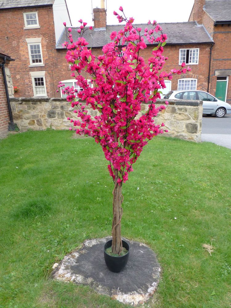 Artificial Plants 5 Large Dark Pink Artificial Blossom Tree With Flowers In Home Furniture Diy Home D Planting Flowers Flowering Trees Artificial Plants