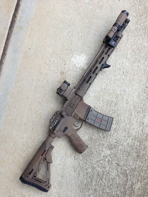 Ar 15 Tactical I Love The Sleek Look Of This Setup I Would Put