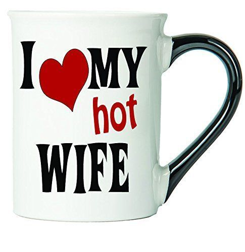 I Love My Hot Wife Coffee Mug, Ceramic Wife Coffee Cup, Wife Gifts By Tumbleweed: Kitchen & Dining *Click image to check it out* (affiliate link)  