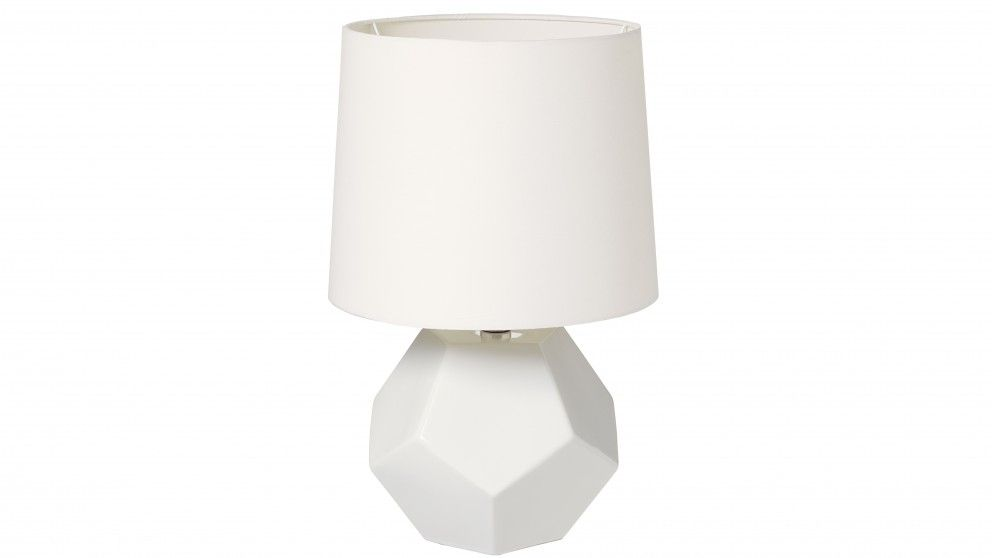 Harvey norman aria white bedside lamp table lamps decorator items beds with norman lighting