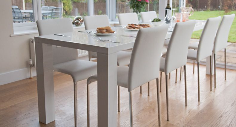 The Stylish Clean and Sleek White Dining Table Innovations Home