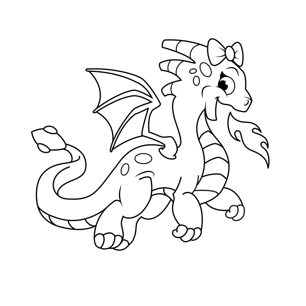 Dragon Coloring Pages Free Android Ios And Windows Phone App Dinosaur Coloring Pages Dragon Coloring Page Dragon Silhouette